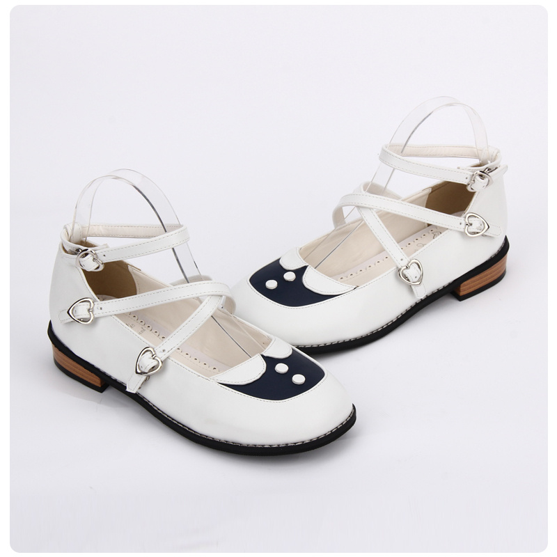 Japanese Dolly Lolita Shoes Kawaii Girls Criss Cross Low Heel Ankle Strap  Shoes Sweet Princess Girl Shoes-in Women s Pumps from Shoes on  Aliexpress.com ...