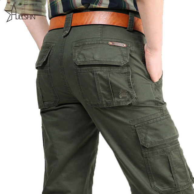 2016 Brand Mens Military Cargo Pants Multi-pockets Baggy Men Pants Casual Trousers  Overalls Army Pants 2155