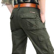 2016 Marca Para Hombre Pantalones Militares de Carga multi-bolsillos Holgados Pantalones De Los Hombres Pantalones Casuales Overoles Pantalones Militares 2155
