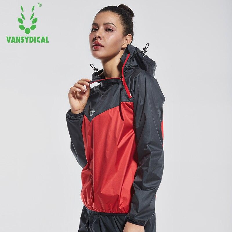 2018 VANSYDICAL Women Sports Running Sweat Jacket Lose Weight Sportswear Women Yoga Sets Gym Cloth Fitness Training Track Jacket