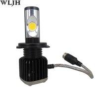 WLJH 2x CANBUS 60W 5600LM H4 HB2 9003 Hi-Lo High Low Beam Car LED Headlight COB Chips Automotive Bulb Car Styling Headlamp