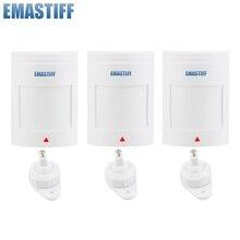Detector de Sensor de movimiento PIR con cable para GSM PSTN, sistema de alarma de seguridad para el hogar, 3 unidades por lote, envío gratis