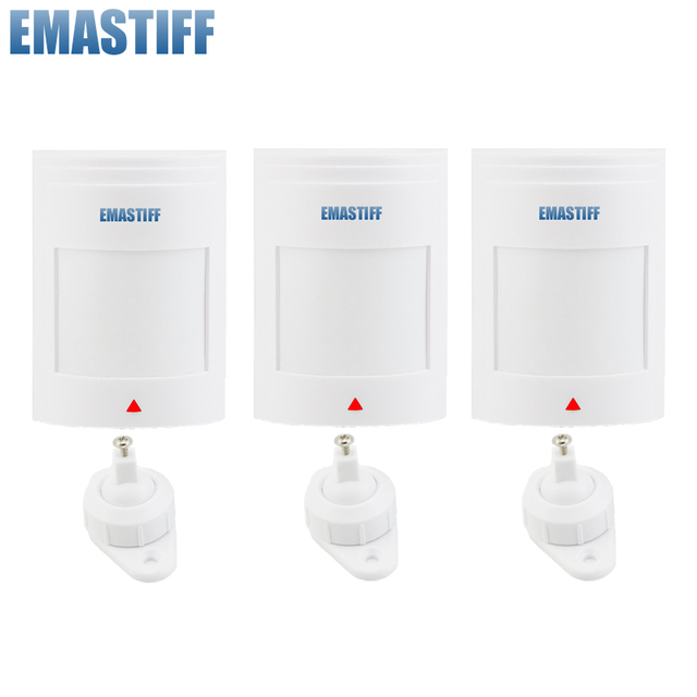 free shipping!3pcs/lot Wired PIR Motion Sensor Detector For GSM PSTN Home Security Alarm System
