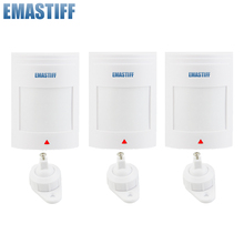 free shipping 3pcs lot Wired PIR Motion Sensor Detector For GSM PSTN