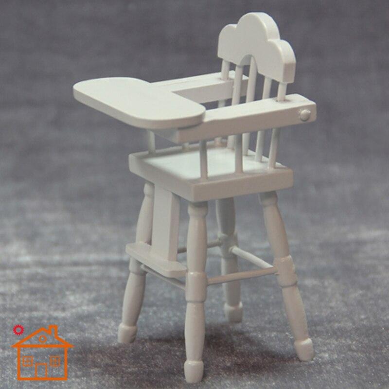 Nursery High Chair w/ Mahogany finish dollhouse furniture 1/12 scale #KT01