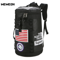 Large capacity Leisure Fitness Bag Portable Flag Pattern Multifunction Outdoor Sport Gym Pack College Sports Basketball Handbag