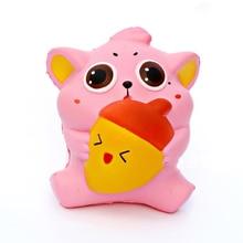 13.5 cm stisnite zabavno igračo mehko počasi naraščajoč mobitel ključni verižnik obesek PU luštna antistres igrače za otroke
