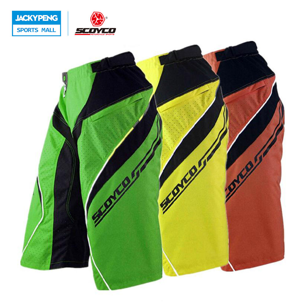 SCOYCO Motorcycle Motocross Racing Riding Shorts Clothing Men's Downhill DH MTB Mountain Bike Bicycle Cycling Shorts