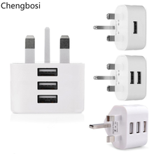 3 Port USB Charger 3in1 Triple UK Plug 5V 3A Travel Wall Charger Adapter for IPhone Samsung Xiaomi Phone USB Charger Universal цена в Москве и Питере