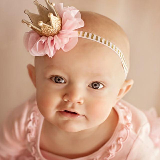10 unids/lote recién nacido mini Fieltro corona diadema elástica ...