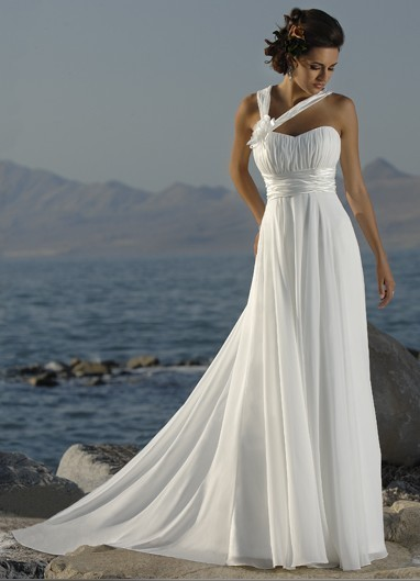 45bb194234e Beach wedding dresses under 100 long simple dresses cheap chiffon  tailor-made fast delivery