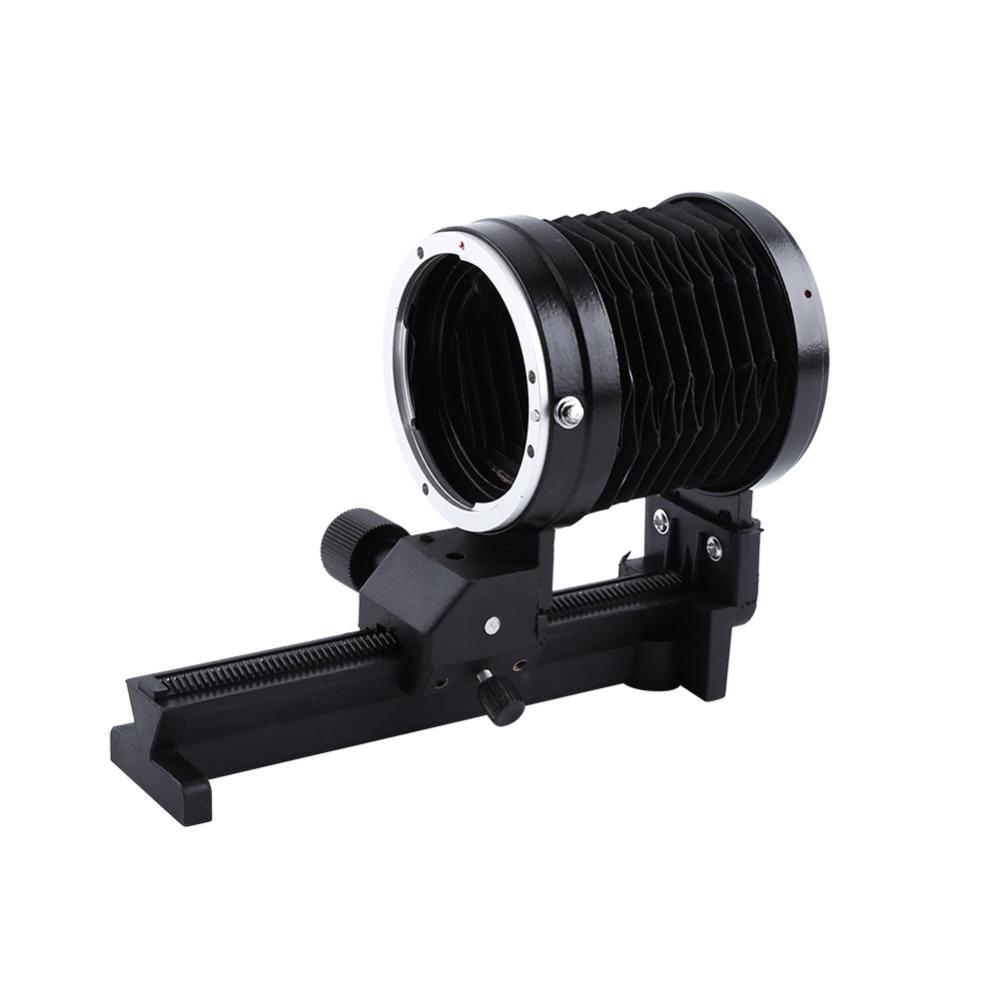 Prix pour Macro Soufflet Lentille Trépied Mount Extension Soufflet Pour Canon EOS EF Monture de Discussion Caméra
