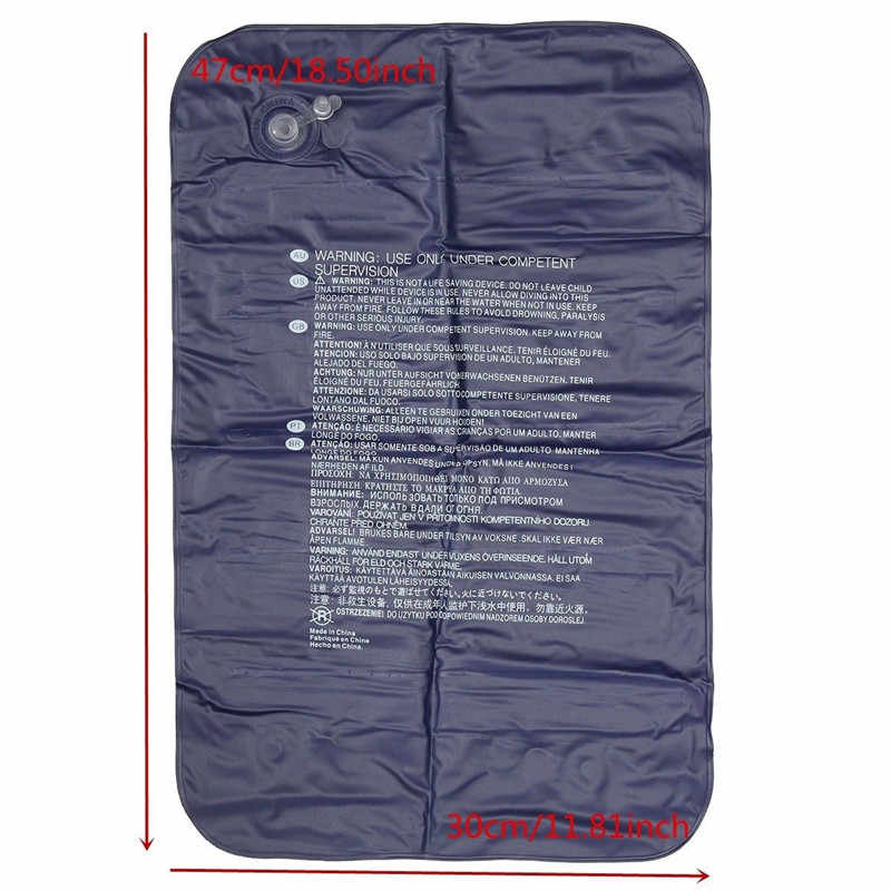 Lipat Bantal Perjalanan Luar Ruangan Tidur Udara Bantal Tiup Portable Istirahat Istirahat Bantal Biru