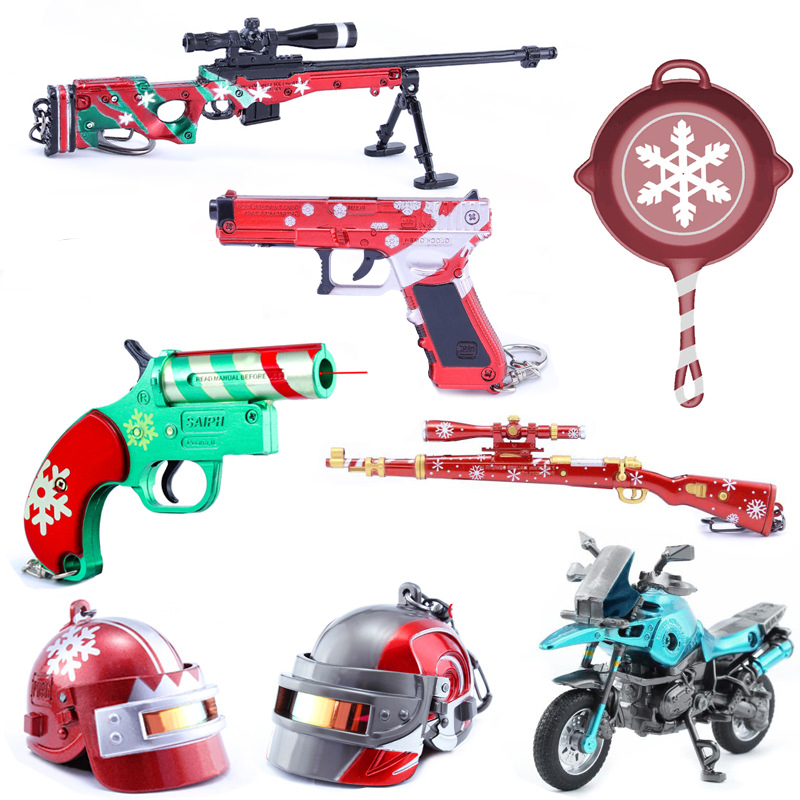 Kids Christmas Gifts Toys Game Battle Royale Action Figure Gun Model Alloy Weapons New Year Skin KeychainKids Christmas Gifts Toys Game Battle Royale Action Figure Gun Model Alloy Weapons New Year Skin Keychain