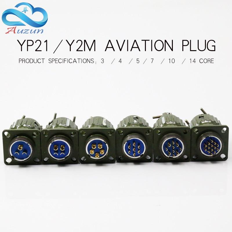 Conector de aviación redondo connectorYP series 2/3/4/7/10/12, diámetro del núcleo 21MM, enchufe de aviación