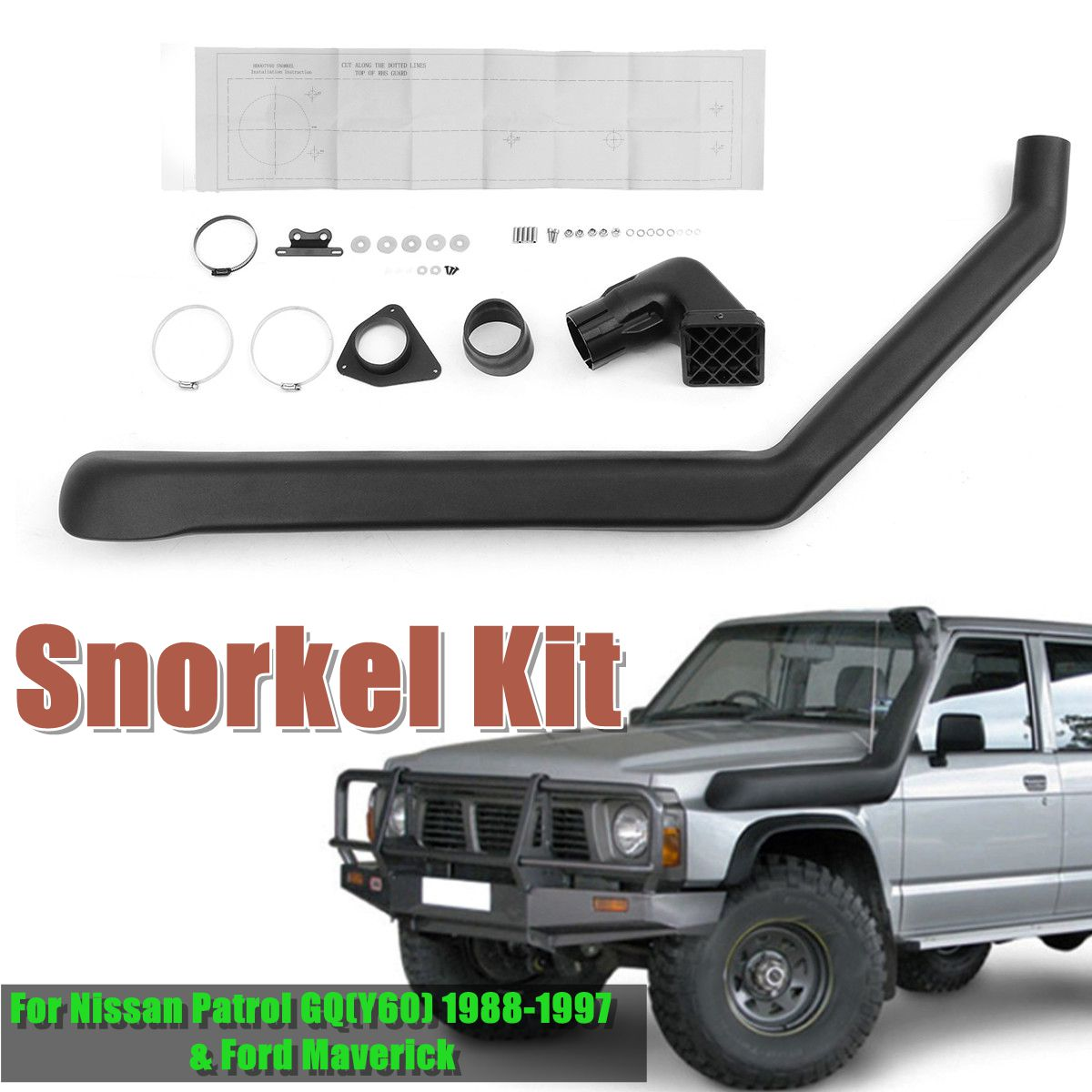 Air Intake System Intake Snorkel Kit For Nissan Patrol GQ(Y60) 1988-1997 For Ford Maverick