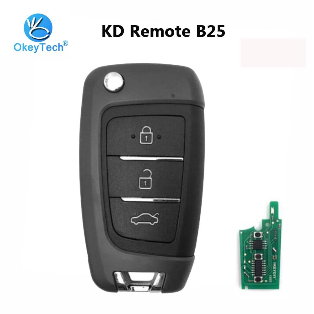 OkeyTech B25 KD Remote Key B Series 3 Button Remote Control KEYDIY for KD MINI/KD900/URG200 Key Programmer For Hyundai Elantra free shipping g46vw gtx660m n13e ge a2 mainboard rev 2 2 for asus g46v laptop motherboard 60 nmmmb1100 e02 100% tested working