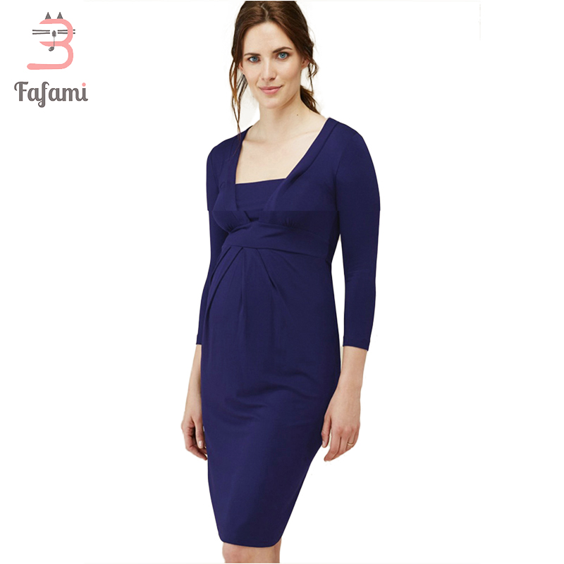 Maternity Clothes Maternity Dresses Elegant Layer Model Nursing Dress For Pregnant Women Fashion Pregnancy Clothing photo shoot