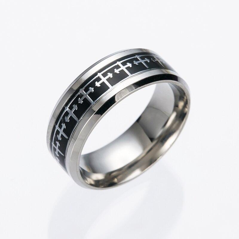 1 pcs NEW Hot Jesus Cross Stainless Steel Finger Ring For Women/Men Gift Anniversary Party