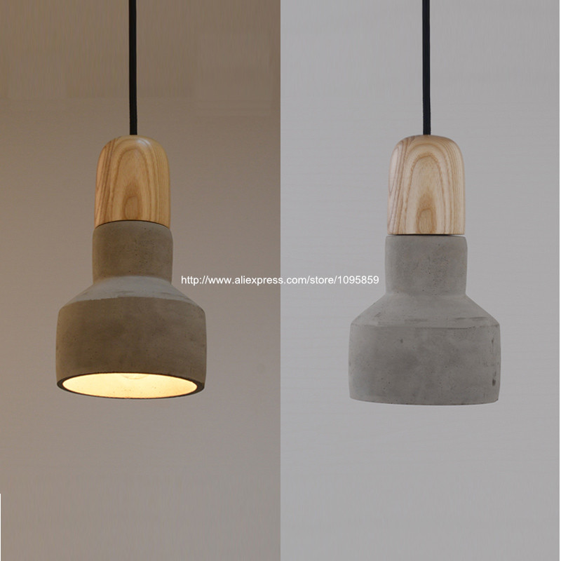 Vintage Pendant Light Fixture Ceiling Lamp Wooden Hanging Lighting Bar Club Lamps Gray Red Green