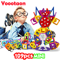 109PCS Solid color Magnetic Building Blocks Toys Mini 3D DIY Learning Educational Toy Bricks Magnetic Kids Toys