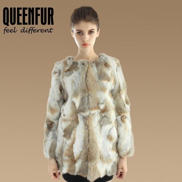 Abrigo piel de conejo