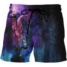 2017 New Mens Shorts Dragon Ball Z Summer Brand Clothing Homme 3D Print Casual Good Quality Men Short