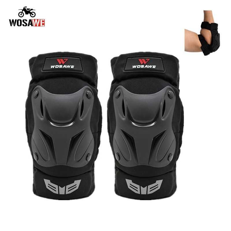 WOSAWE motocicleta codo almohadillas Motocross codo almohadillas adultos Snowboard voleibol ciclismo Hockey almohadillas brazo protección armadura engranaje