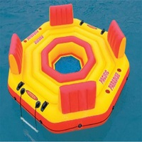 254*61 см надувной шезлонг воды плавающей кровать надувной плавающий ряд Надувные матрасы с электрическим насосом воздуха