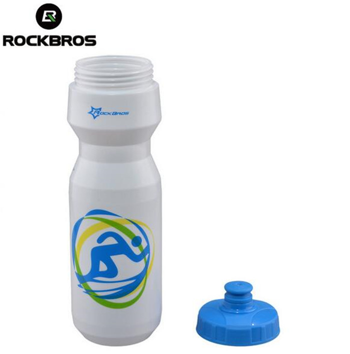 ROCKBROS Bicycle Water Bottles 750ml Cycling Outdoor Sports Water Bottles With Dust Cover Portable Plastic MTB Bike Bottles in Bicycle Water Bottle from Sports Entertainment
