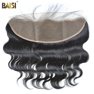Image 4 - BAISI Hair Brazilian 8A Body Wave Virgin Hair Weave 3 Bundles with Lace Frontal 100% Human Hair