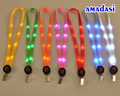 21pcs/lot LED Lanyard ID Holder Lanyards Car Motorcycle Safe Warning Key Lanyards Energy Drinks Neck Keychains