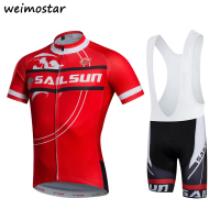 Red Green Sport Team Bike Jersey Ropa Ciclismo Mens Pro Cycling Jersey Bib Shorts Kit Bicycle