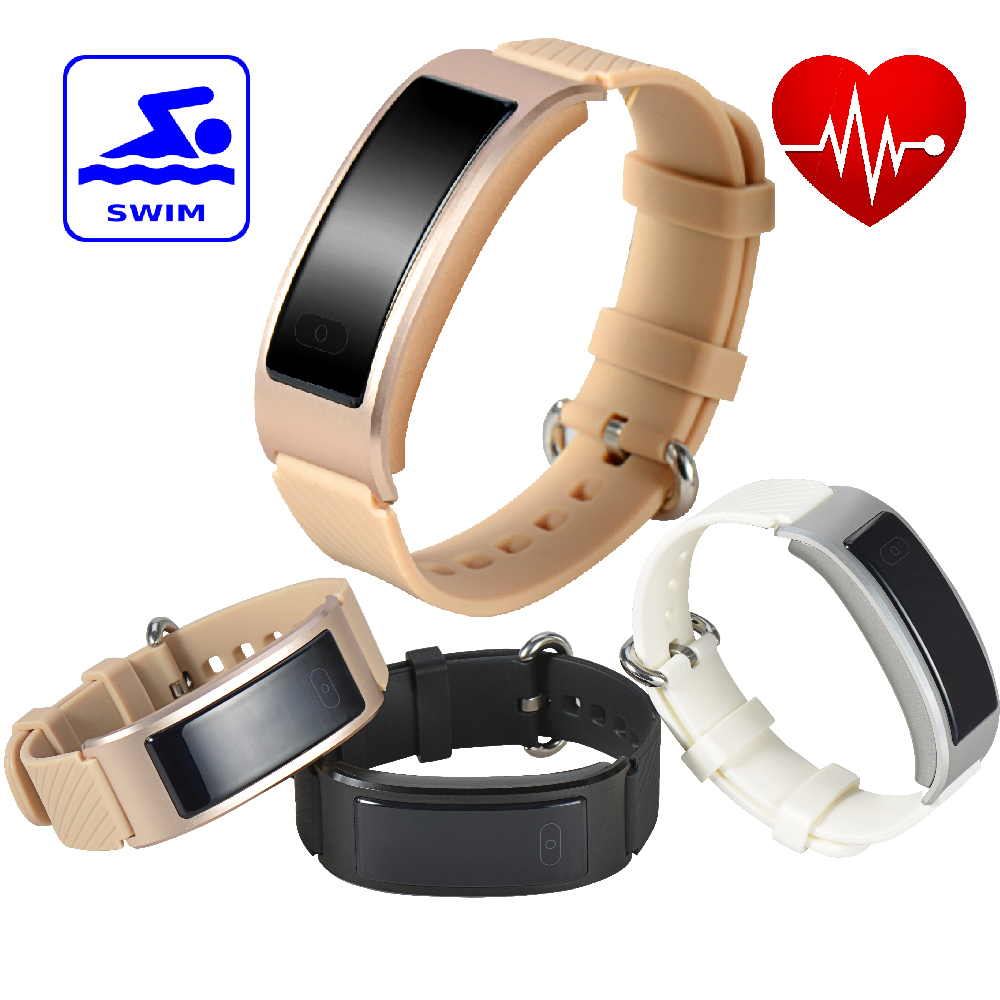 DF23 font b Smart b font Band Heart Rate Monitor Smartband Waterproof Swimming Intelligent Clock font