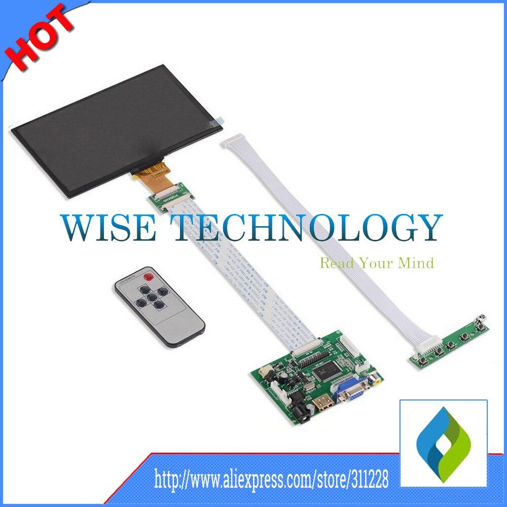 7 Inch1024*600 IPS Screen Display LCD TFT Monitor EJ070NA-01J with Remote Driver Control Board 2AV HDMI VGA for Raspberry Pi