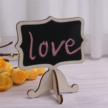 10Pcs/set Mini Wooden Blackboard Chalkboard Wedding Party Stand Table Numbers Place Wedding Party Table Number Place Tag