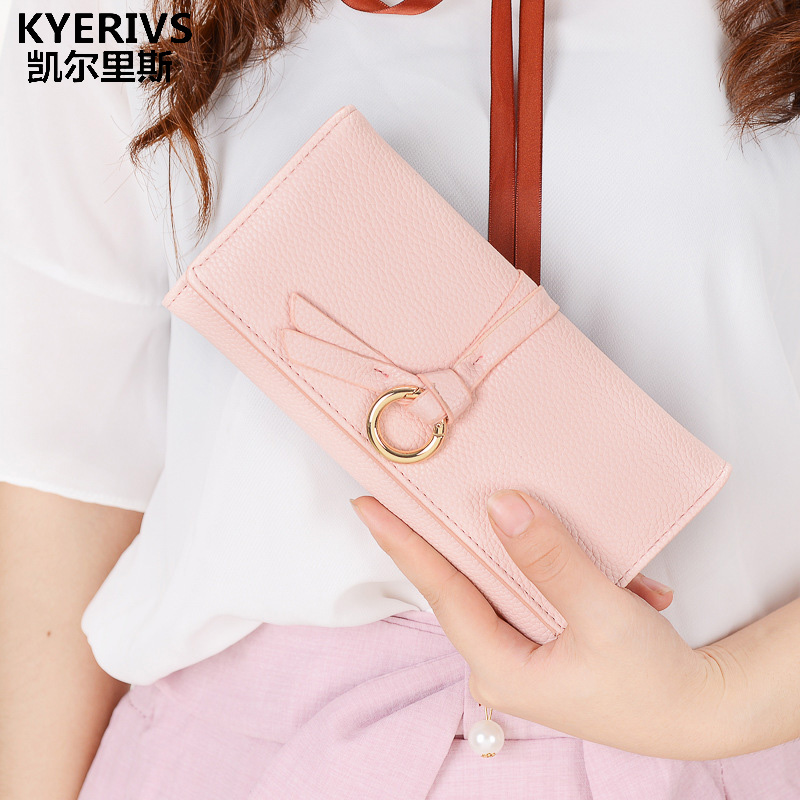 KYERIVS Brand Pu Leather Women Wallets Long Coin Purse Women Multiple Card Holder Wallet Clutch Bag Fashion Purse Wallet Thin classic plaid pattern shirt collar long sleeves slimming colorful shirt for men