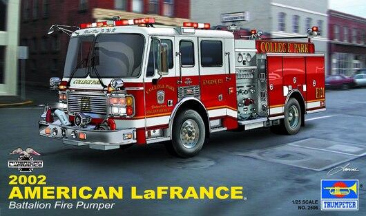 Assemblage 1:25 modèle de voiture Automobile Simulation jouet assemblée camion de pompier américain en 2002 02506 modèle Kit