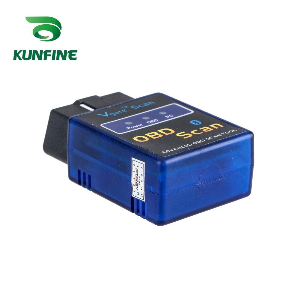 KUNFINE OBD II Vgate Scan ELM327 Bluetooth Автомобильный детектор ELM 327 Диагностический Инструмент OBD OBD2 сканер автоматический адаптер диагностический инструмент