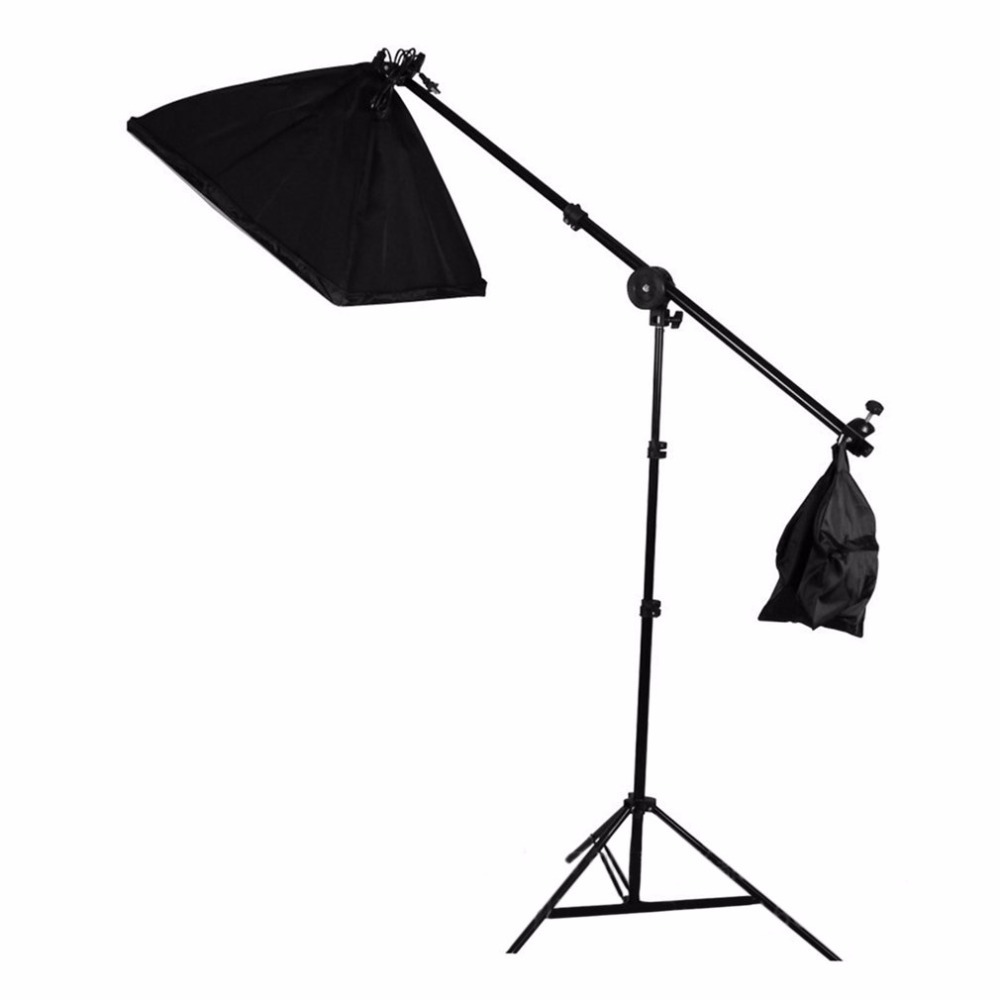 Studio Photo Telescopic Boom Arm Photography Slope Cross Arm Bar With Weight Balancer Sandbag with Support Stand