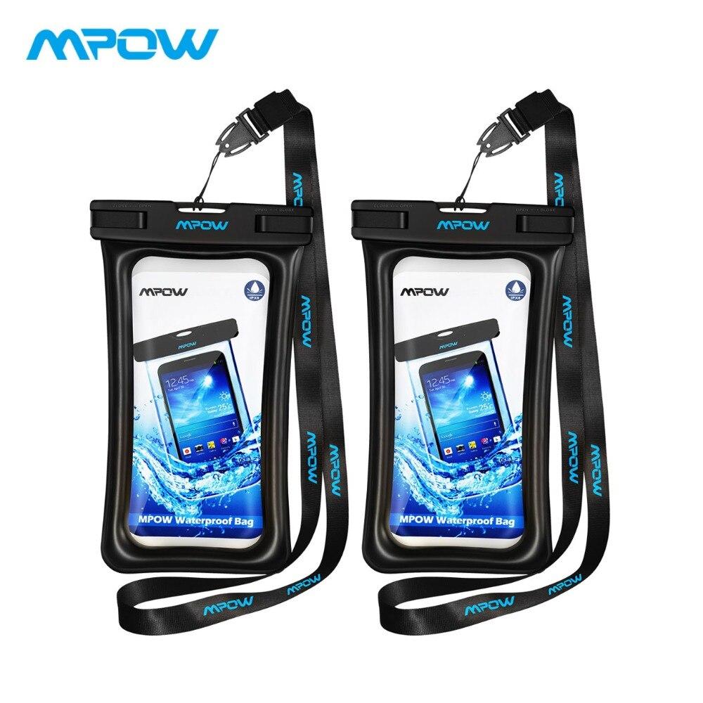 Mpow 2PCS Original Floatable IPX8 Waterproof Case Dry Phone Pouch Bag for iPhone 7 Plus / Huawei P9 / Samsung Galaxy S7 S8 etc pochette étanche pour téléphone