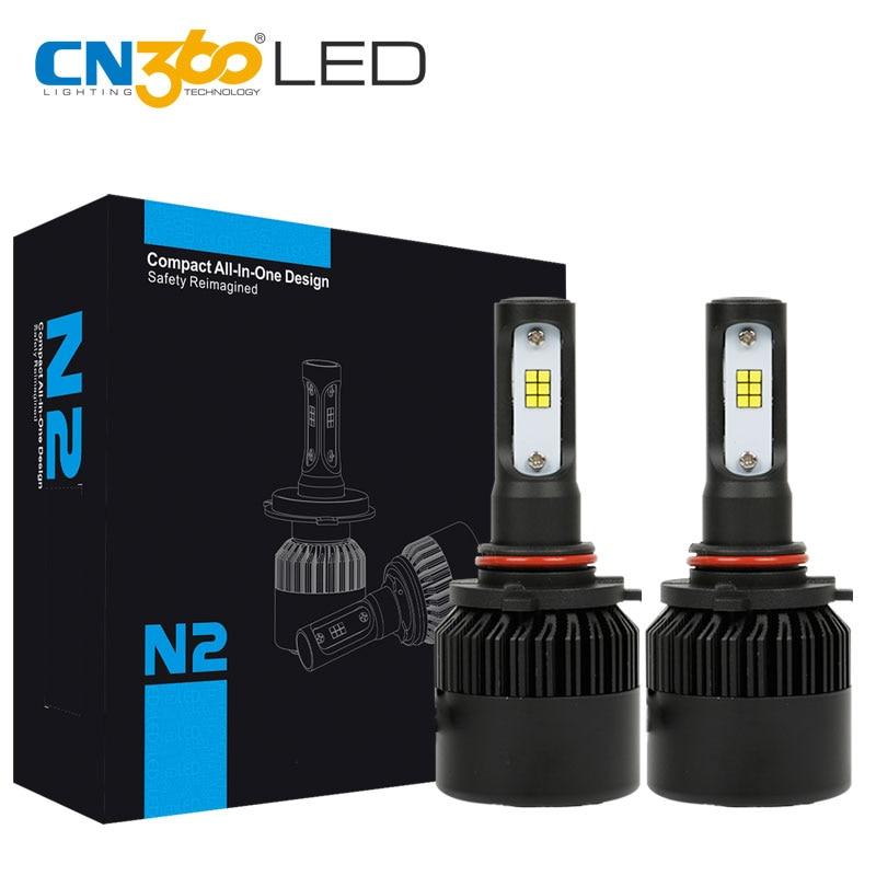CN360 2PCS 9005 LED CSP Chip Auto Headlamp 12V Headlight 8000LM Waterproof All In One Car 1 Year Warranty 6000K Plug & Play 450260 b21 445167 051 2gb ddr2 800 ecc server memory one year warranty