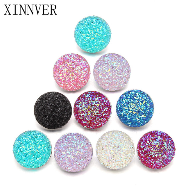 10pcs/lot mixed 18mm snaps Alloy Resin Fashion Snaps Buttons Fit xinnver snap je