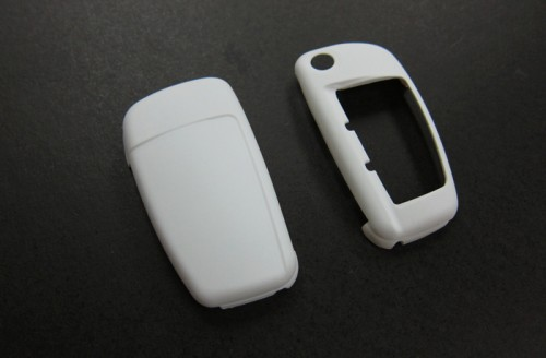 WHITE Remote Flip Key Cover Case Skin Shell Cap Fob Protection Hull S Line for Audi A3 A4 A6 Q5 Q7 TT R8
