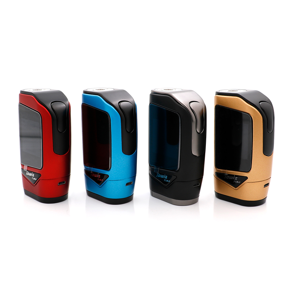 original Hcigar Towis T180 Touch Screen TC Box Mod with XT180 chipset fit for Hcigar maze series RDA E Cigarette vape mod original hcigar vt75d box mod hcigar vt75 evolv dna75 e cigarette mod adopts evolv dna 75c chip powered by dual 18650 battery