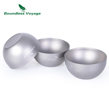 Boundless Voyage Titanium Double-wall Cup Mug Outdoor Camping Travel Picnic Wine Tea coffee Alcohol Whiskey Drinkware