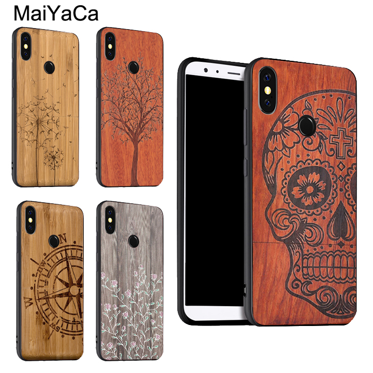 Bamboo Wood Pattern Skull Print Case For Xiaomi Redmi Note 8 7 9 Pro K30 9S 8T 7A 8A Mi 9 A3 9T 10 Pro Max3 Mix3
