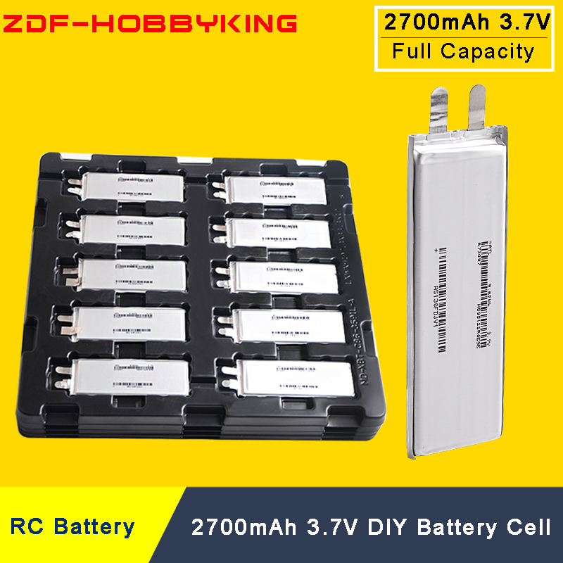 ZDF 3.7V 2700mah 15C Lipo Battery Cell For DIY 2S 3S 4S 6S RC Plane Heliopter Airplane RC Quadcopter Drone RC car battery lipo battery 7 4v 2700mah 10c 5pcs batteies with cable for charger hubsan h501s h501c x4 rc quadcopter airplane drone spare