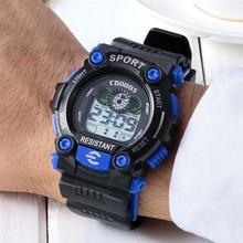Zegarek sportowy dla dzieci wodoodporny zegarek cyfrowy dla dzieci Alarm LED tylne światło chłopcy dziewczynek zegarki nowy relogio infantil