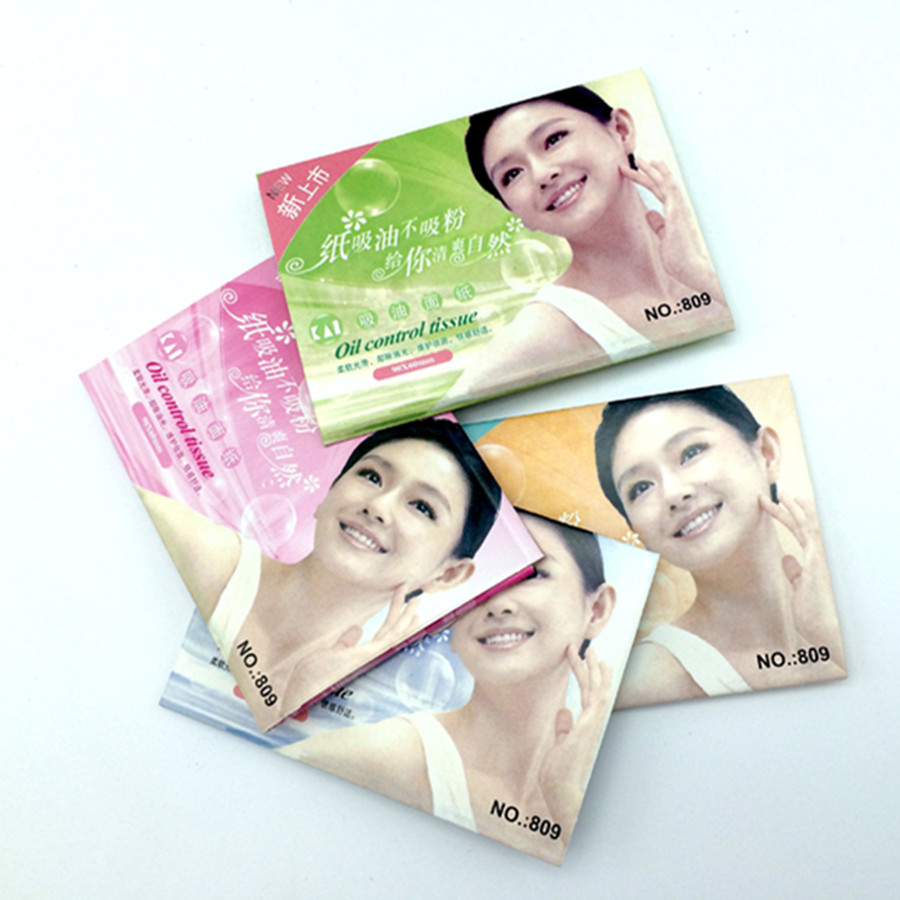 50 Pcs/ Bag Facial Oil Blotting Paper Face Absorbing Oil Sheet Oil Control Film Face Clear And Clean Random Color